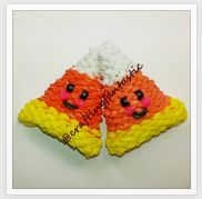 Rainbow Loom Happy Food Series - Candy Corn - FeelinSpiffy - CraftingFantastic The tutorials are on her Youtube page:)