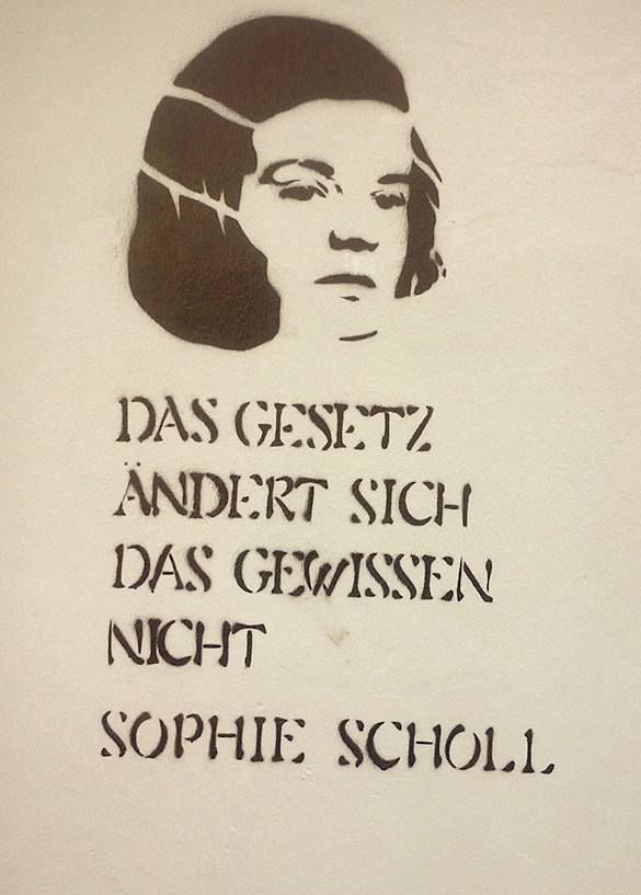 """sel-is-bornthisway: """"Laws change. Conscience doesn't."""" Sophie Scholl Dortmund, Germany Street Art"""