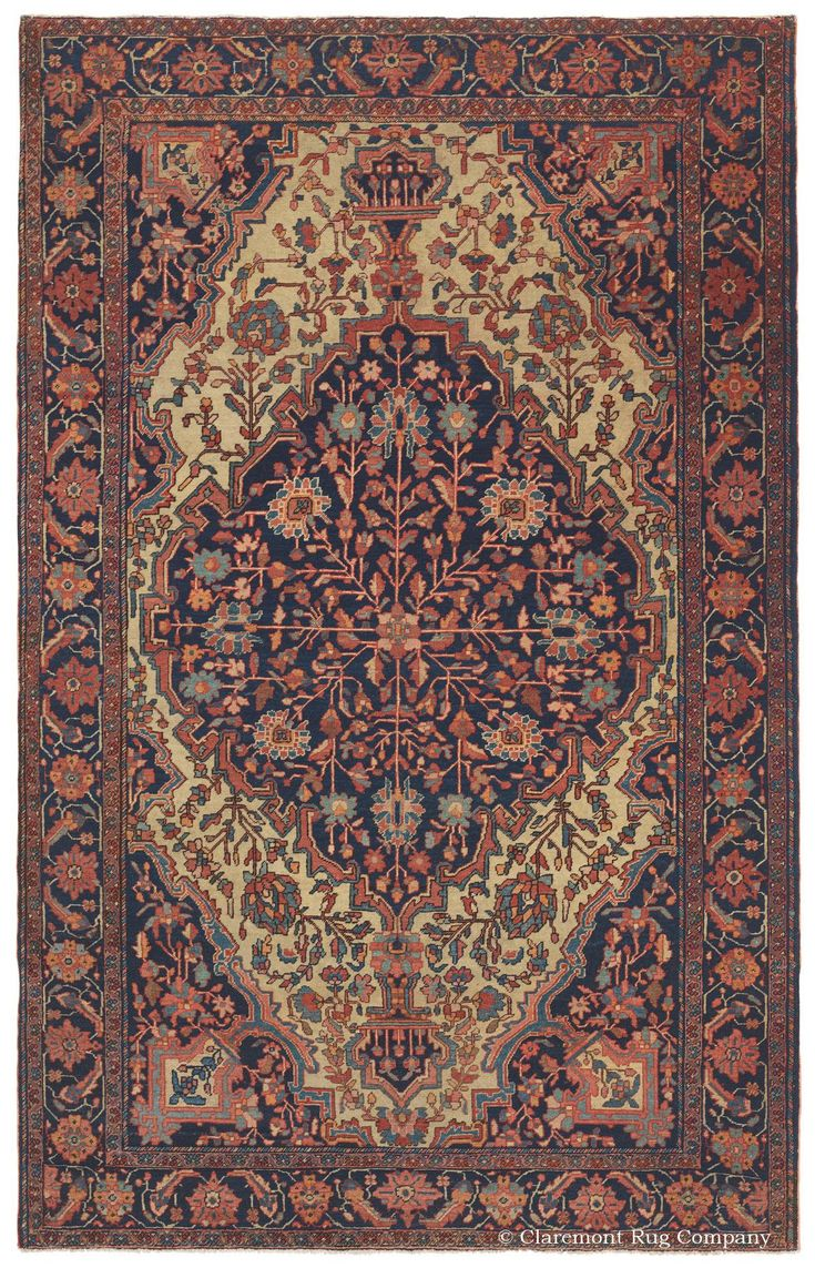 FERAHAN SAROUK, West Central Persian 4ft 3in x 6ft 9in Late 19th Century