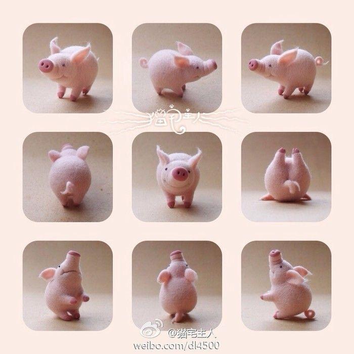 羊毛毡 猪