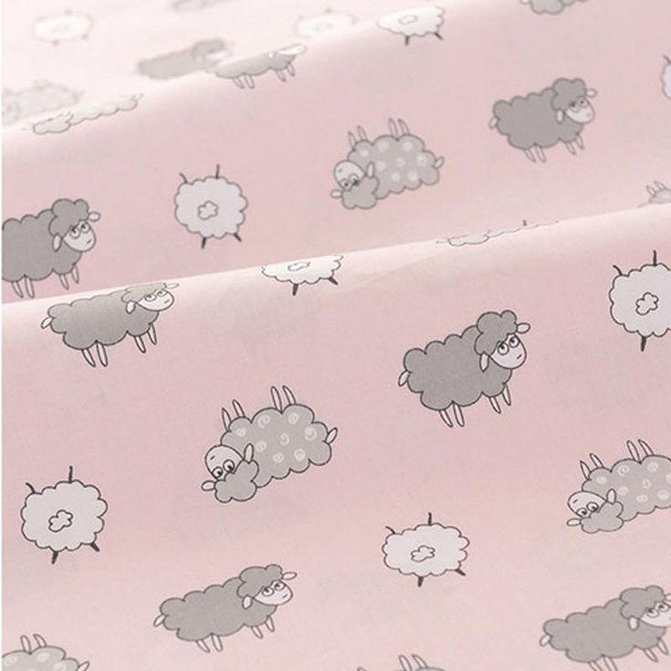 100 * 160 см розовый милый мультфильм овец 100% хлопок саржа DIY домашнего декора дети потертый шик лоскутное пэчворк палатка подушка тканькупить в магазине Ai Guo Trading Co., Ltd.наAliExpress