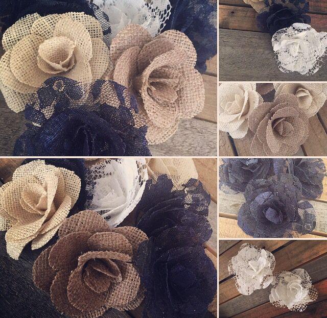 DIY burlap handmade roses