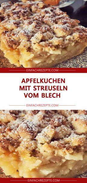 Torta de maçã com granulado do prato