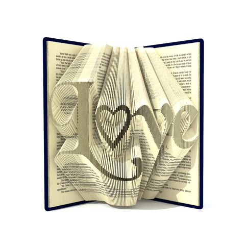 "For ""Love"" pattern you need a hardback book 20cm tall and more, 556 pages and more."