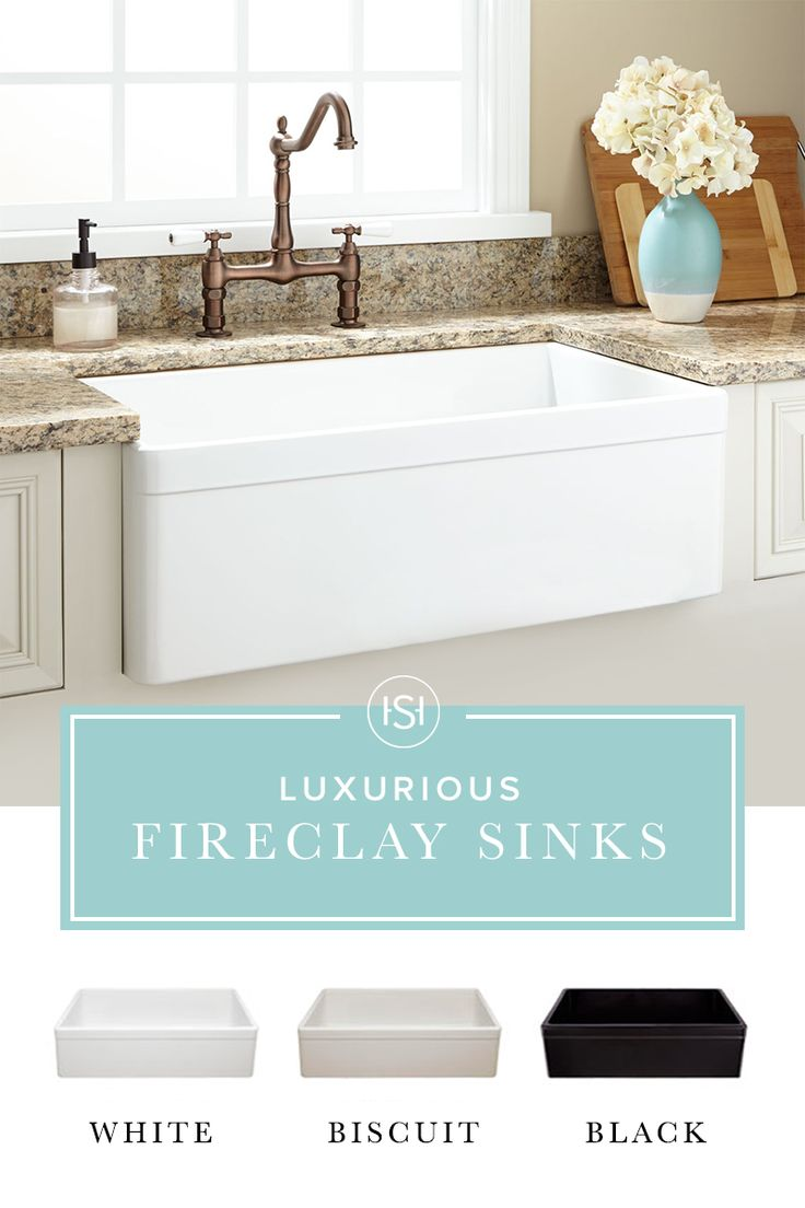 A sink that is durable, high end, and right on trend? We're swooning over these beautiful Farmhouse Fireclay Sinks from Signature Hardware. With loads of style and luxury, a fireclay sink is sure to add instant charm to your home.