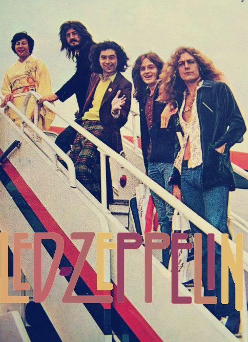 John Bonham, Jimmy Page, John Paul Jones e Robert Plant, primeira turnê internacional do Led Zeppelin