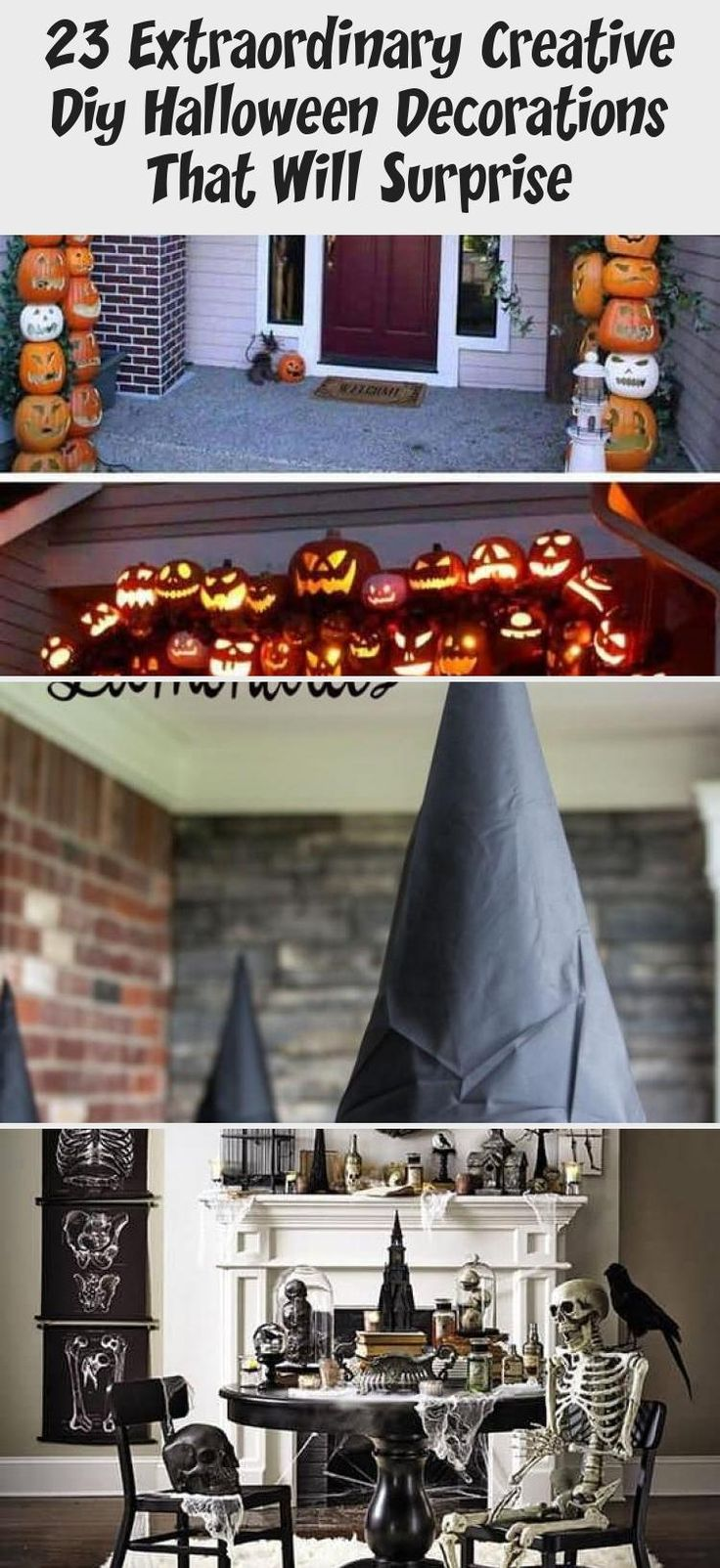 23 Extraordinary Creative Diy Halloween Decorations That