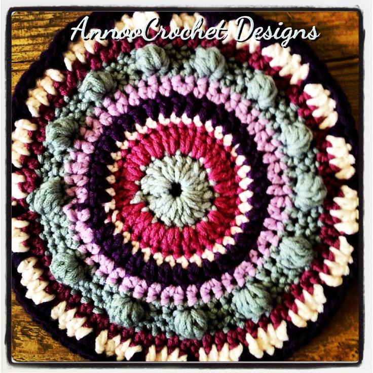 Mandala ~ free pattern: Mandala Free, Crochet Motif, Free Crochet, Mandala Design, Free Mandala, Crochet Mandala Patterns, Crochet Patterns, Free Patterns, Annoo Crochet