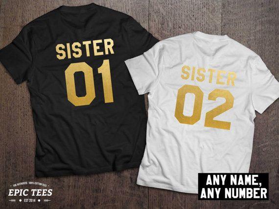 Sister shirts Sister 01 Sister 02 Siblings shirts by EpicTees4You