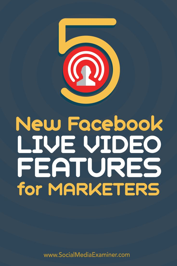 Are you interested in live video?  Facebook Live has expanded its features, providing you with new Facebook marketing opportunities.  In this article you'll discover what Facebook marketers need to know about the newest Facebook Live video features. Via @smexaminer.