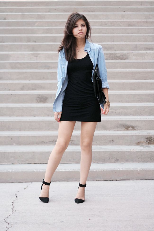 Was already planning an outfit like this! Love the simplicity of denim and black for summer