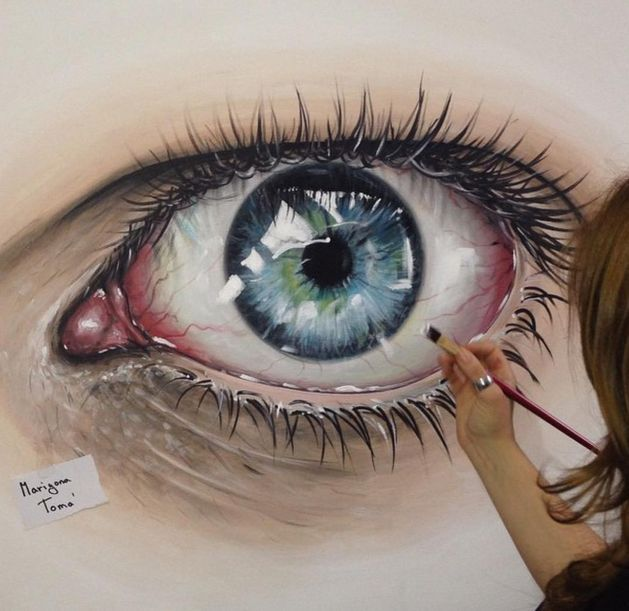 Reaslitic eye painting by MarigonaToma. Read Full article…