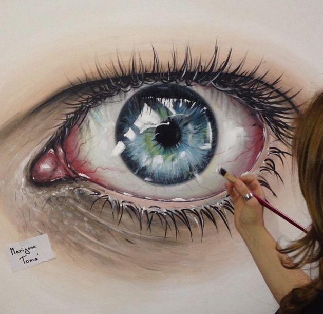 Reaslitic eye painting by MarigonaToma…