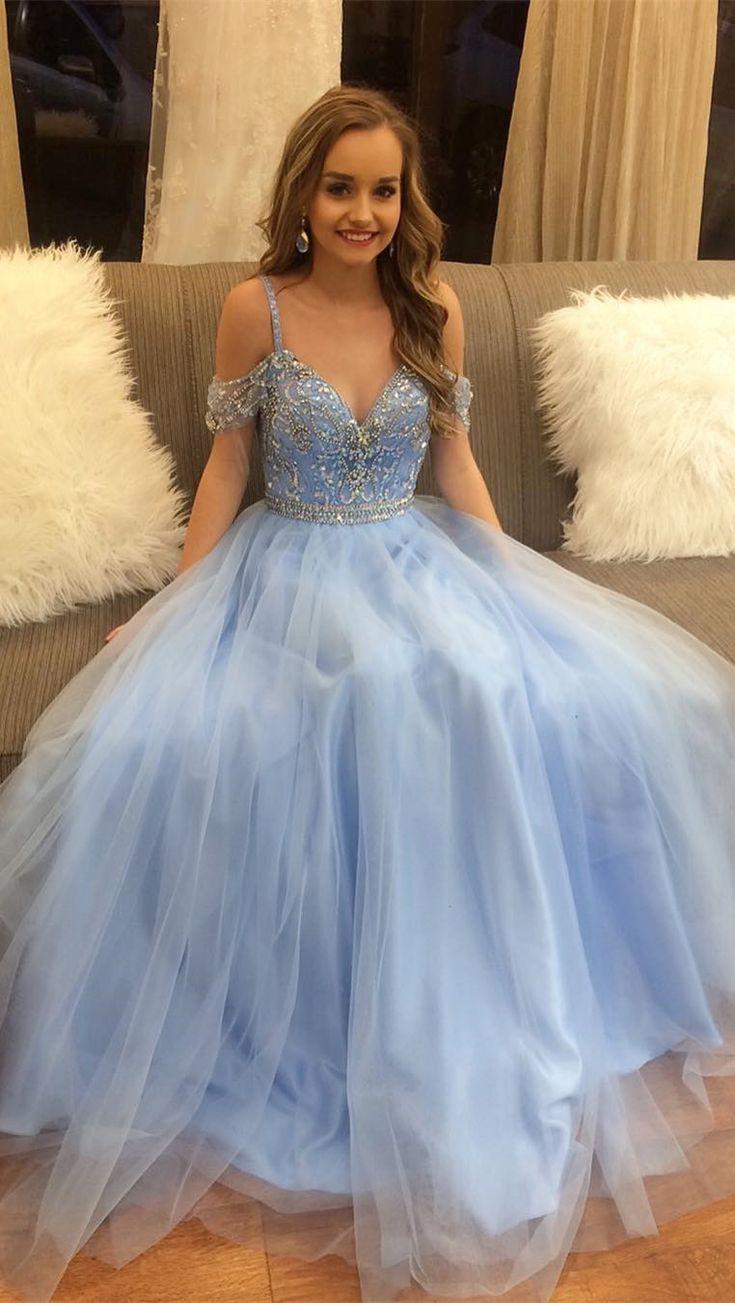 long prom dresses, 2018 blue prom dresses, princess prom dresses, graduation dresses formal evening dresses
