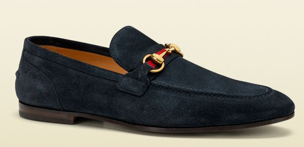 I'm usually not a huge fan of suede shoes, but I love these by Gucci.