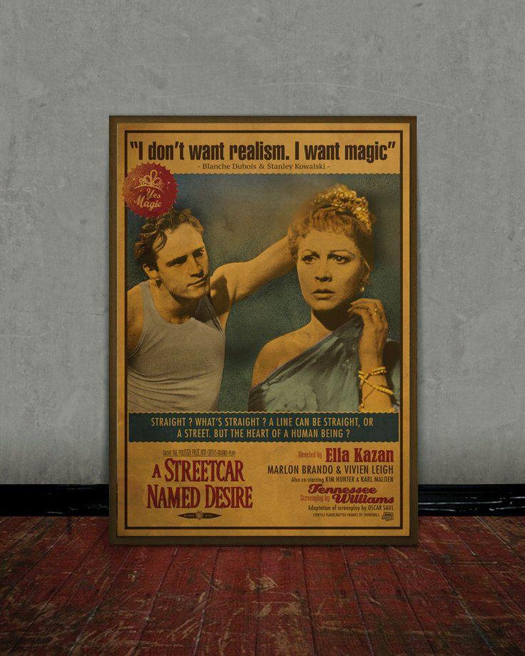 A streetcar named desire - Marlon Brando - Colored retro classic movie poster by Shinewall on Etsy https://www.etsy.com/listing/511585171/a-streetcar-named-desire-marlon-brando