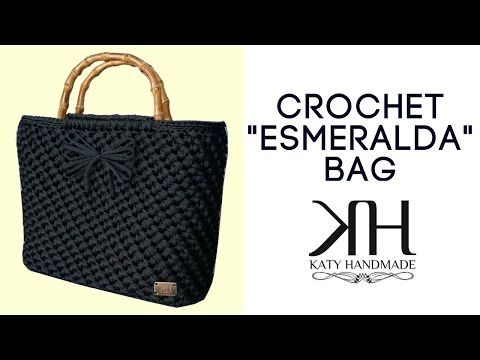 "Tutorial borsa uncinetto ""Esmeralda"" | Punto spiga | How to make a crochet bag || Katy Handmade - YouTube"