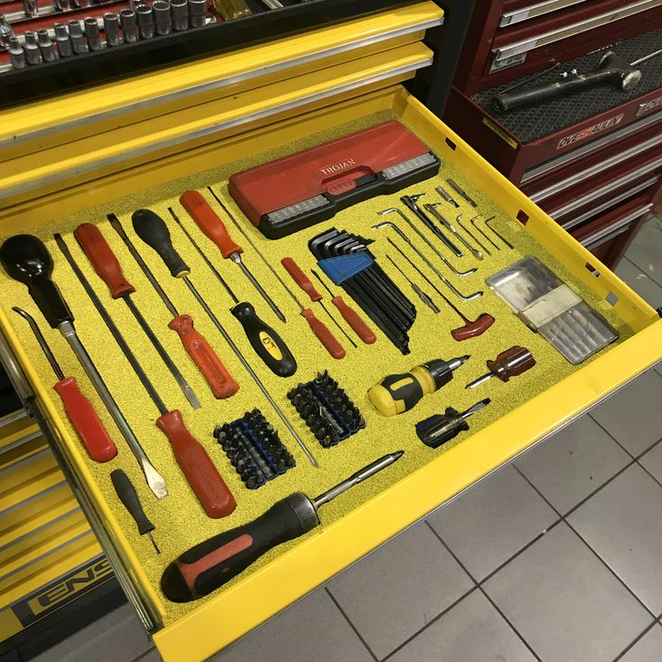 Shadow Foam keeps all your tools organised! Tool
