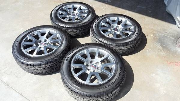 "20 "" GMC 2016 Gray Alloy Wheels NEW ! Continental Tires"