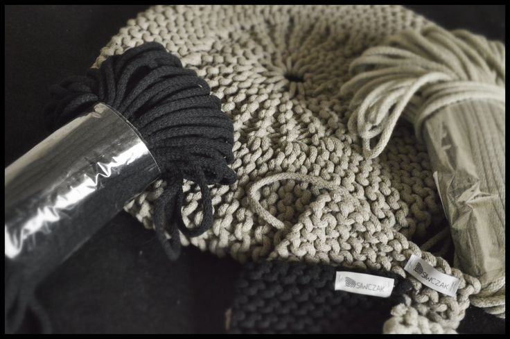 Pufki ze sznurka bawełnianego