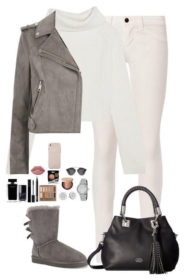 """Untitled #482"" by mariapangal on Polyvore featuring J Brand, Haider Ackermann, River Island, UGG Australia, Vince Camuto, Michael Kors, Urban Decay, NARS Cosmetics, Gucci and Chanel"