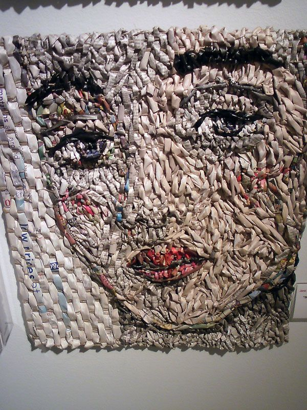 recycled newspaper art | Recycled newspapers by artist ...