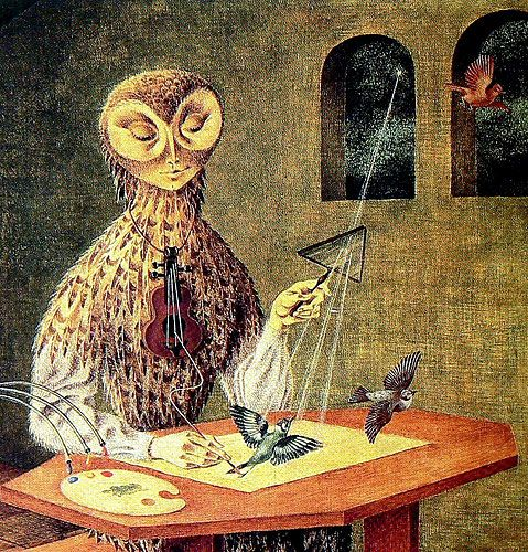 Remedios Varo, Creation of the Birds (detail), 1957.                                                                                                                                                                                 Más