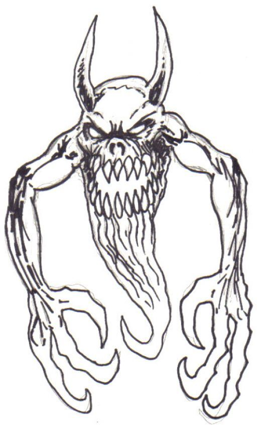 monster with pencil coloring pages - photo#15