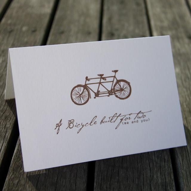 I'm selling Bicycle Built For Two Card - A$3.00 #onselz