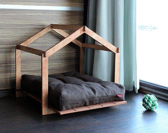 Hundehütte Skeleton Lounge. Modernes Hundehaus Hundebett Haustier – Bauen