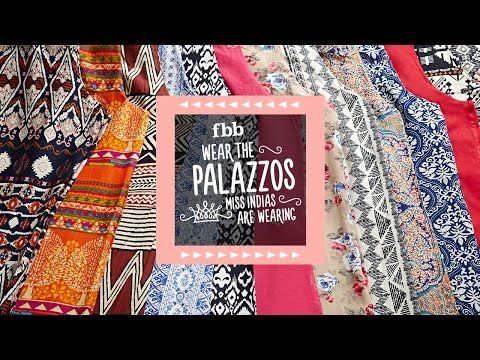 fbb Palazzo Style Video - YouTube