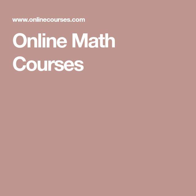 Online Math Courses