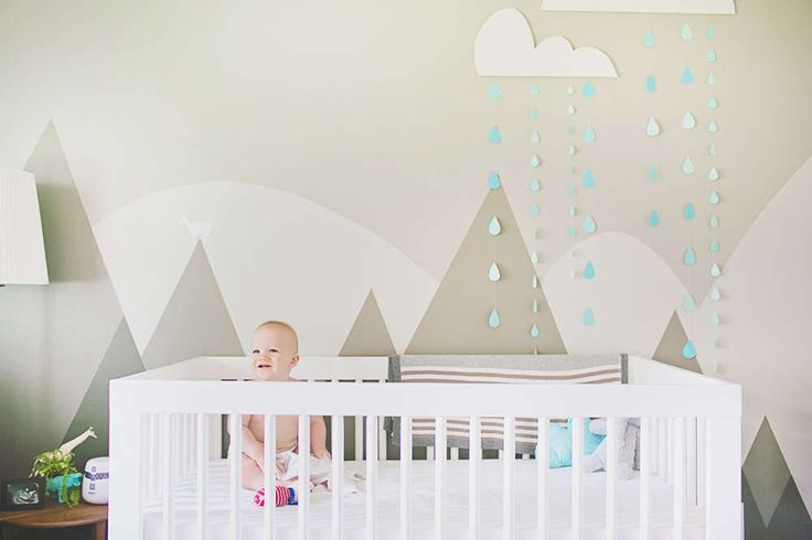 Nursery wall murals: ideas