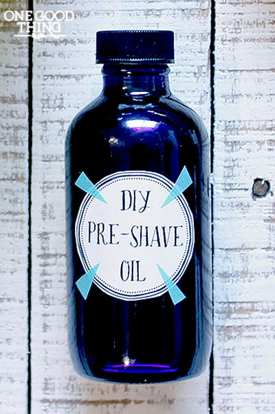 Make your own pre-shave oil for a FRACTION of the cost of the ones at the specialty shops! Silky smooth skin, here we come! :-)