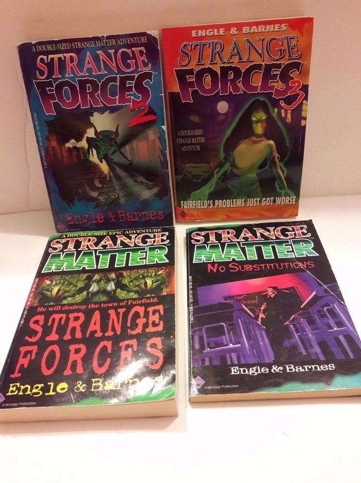 LOT 4 Strange Matter Strange Forces Paperback books Engle & Barnes