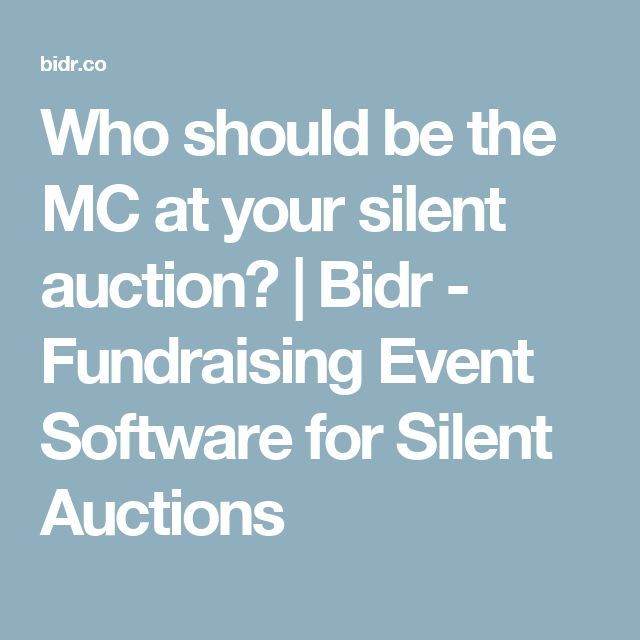 Who should be the MC at your silent auction?   Bidr - Fundraising Event Software for Silent Auctions