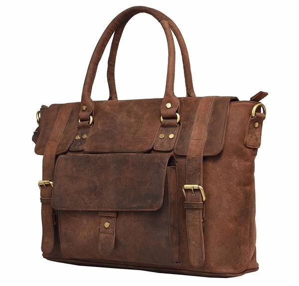 Vintage Leather Byron Bay Ladies Messenger Tote Bag