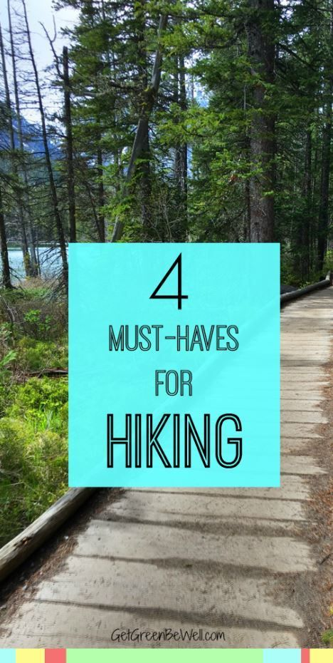 4 things you MUST have when hiking. These essential items are what you need for a hike in the outdoors or urban trails. Stay safe and stay happy with these products to easily put in a backpack or pocket while walking through the woods.