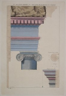 "du second ordre ddu theatre de marcellus a rome italian contemporary hand coloured engraving  10 x 15"""" SET of 3 $210"