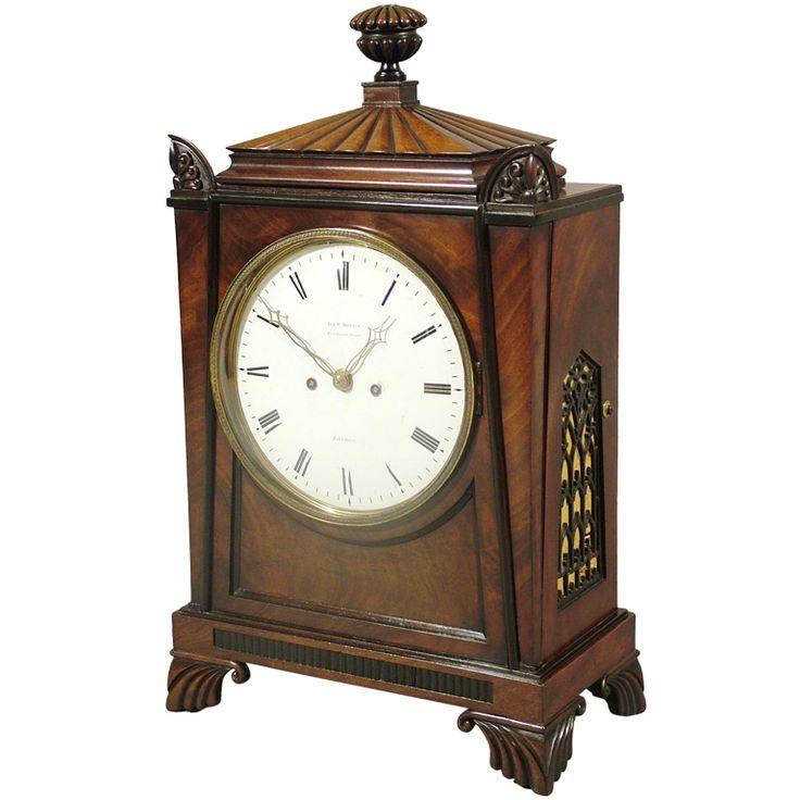 1stdibs.com | A Fine Regency Antique Bracket Clock in the taste of Thomas Hope (UK, 1810)