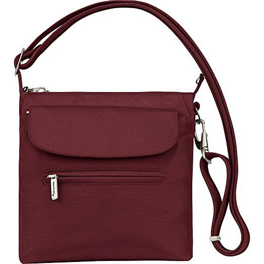 Amazon.com: Travelon Anti-Theft Classic Mini Shoulder Bag, Purple: Clothing