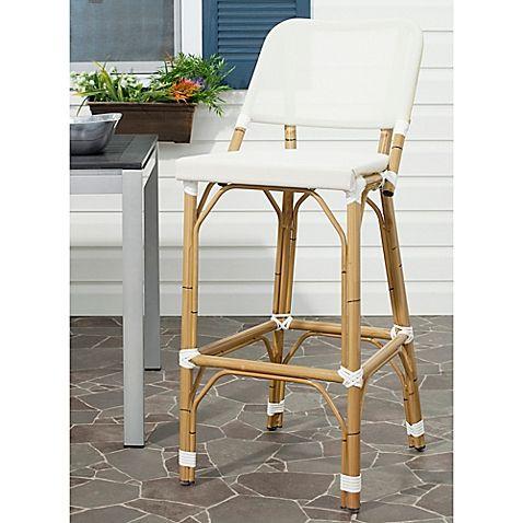 Safavieh Deltana Indoor/Outdoor Barstool in Beige