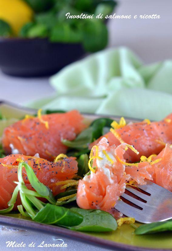 Involtini di salmone e ricotta