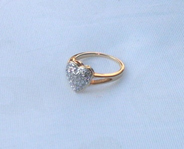 Vintage ringheart shaped valentine ring with by picsoflive on Etsy, $7.00