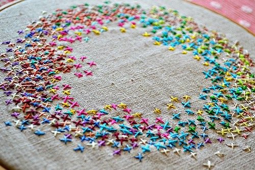 Too Cute Tuesday – Cross stitch circle by Pumora
