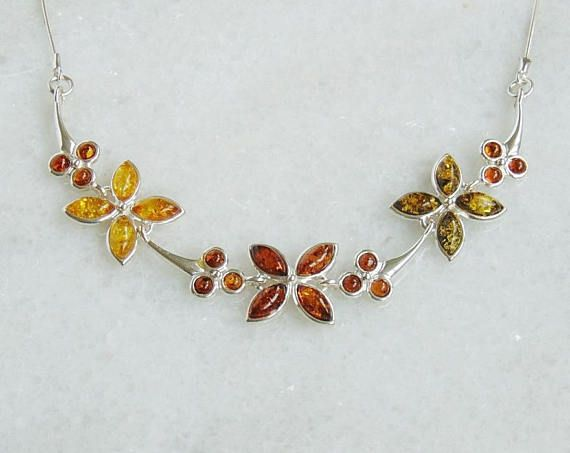 Baltic amber amber necklace amber silver amber silver