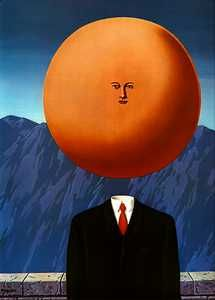 L'art de vivre by Rene Magritte, I think this is a good way to describe how we all act...some days though it can be different shapes and different colors.