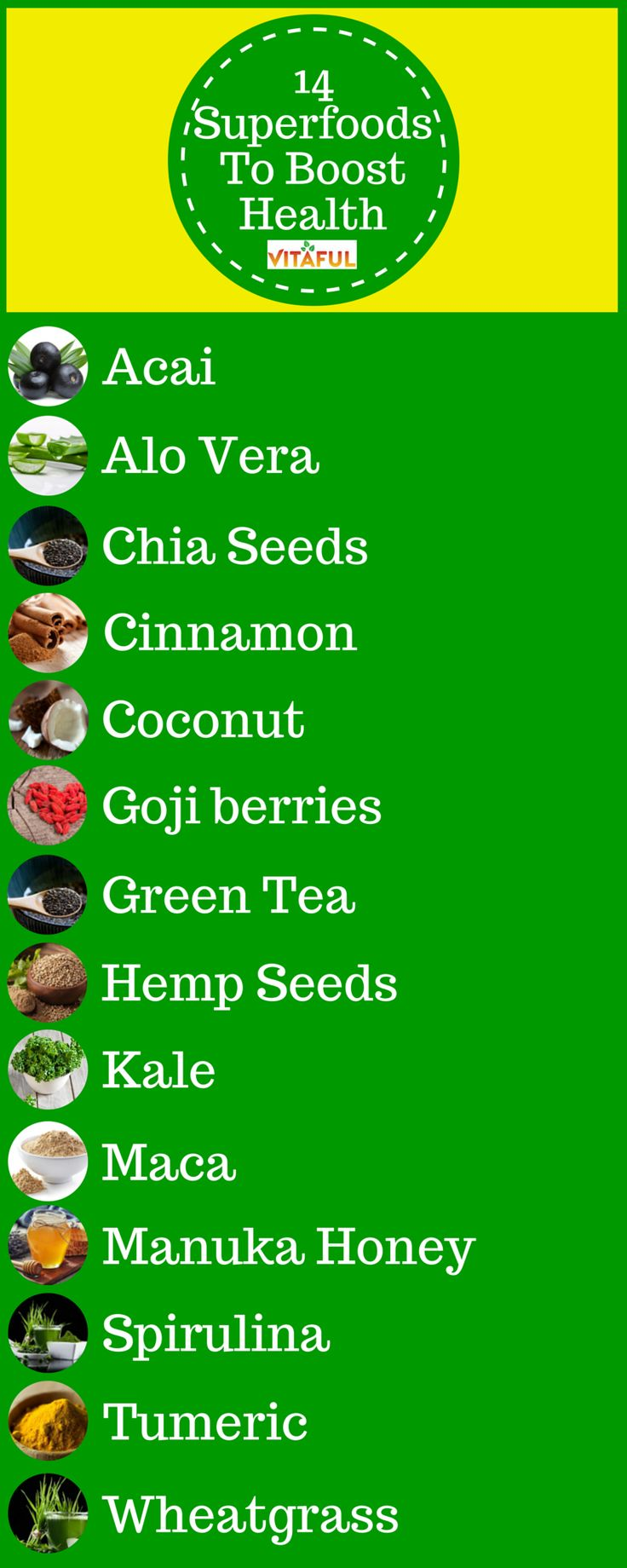 Superfoods List: 14 Superfoods for weight loss and to boost your overall health.