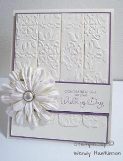 Got Rubber...Will Stamp!: Kristin & Stefan's Wedding Card