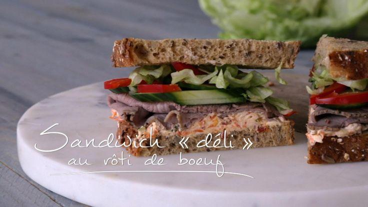 Sandwich « déli » au rôti de bœuf